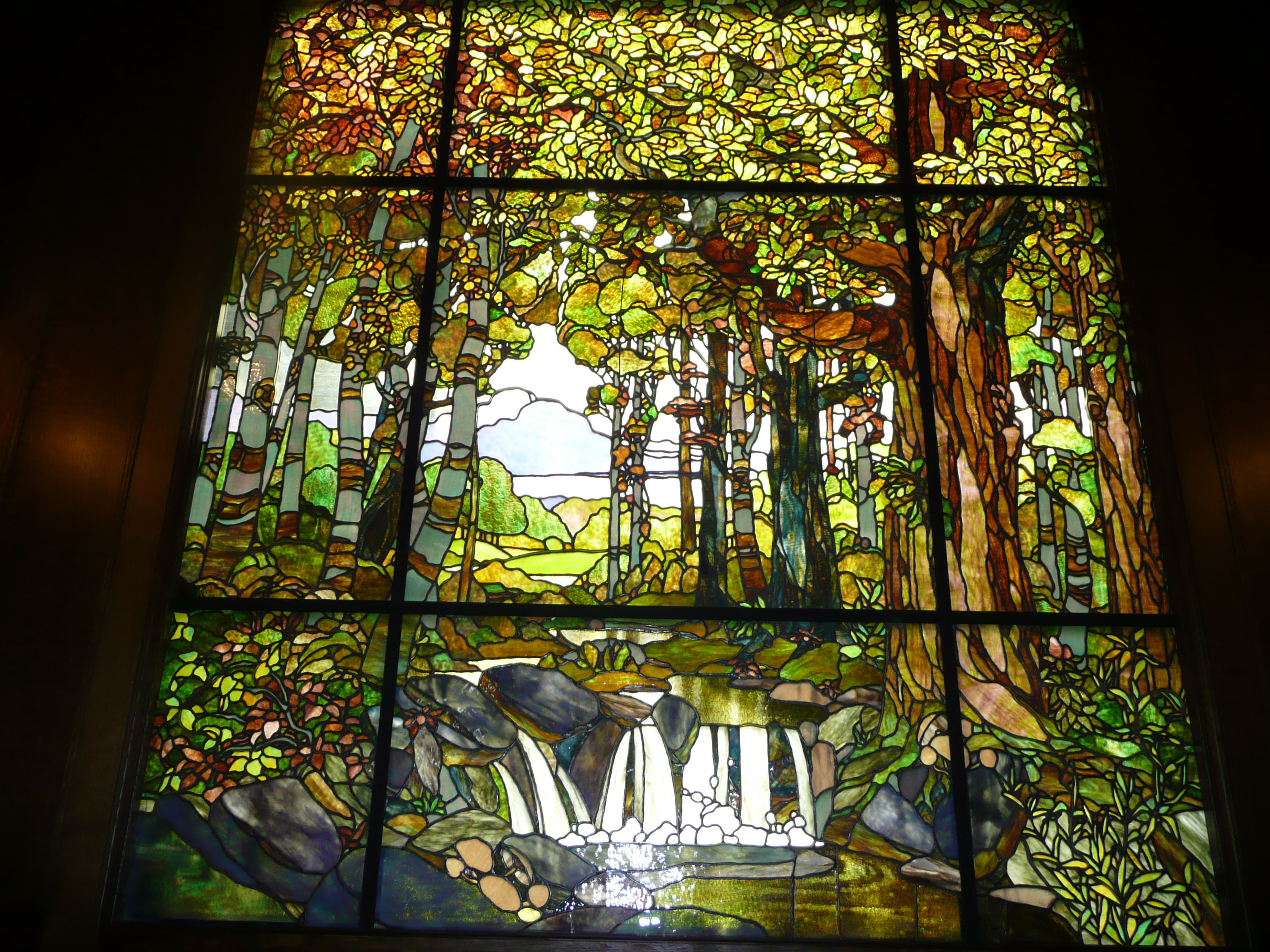 Tiffany Stained Glass : Stained glass up the folks